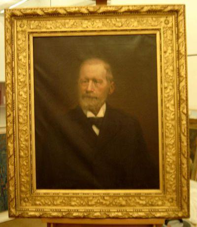 Charles Theunissen (1871-1948), Portret van een heer, 1912, olie op doek.