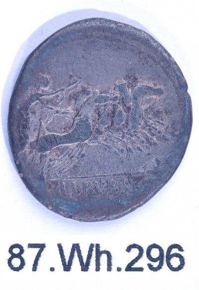 Volledige denarius van L. Iulius Bursio (munt) in zilver