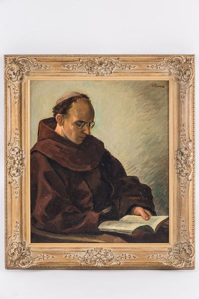 Portret E.P. Gervasius (lezende monnik)