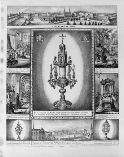 Pieter Frederik Milis (1801-1866), Mirakelprent van het Heilig Sacrament van Mirakel, 1854, lithografie.