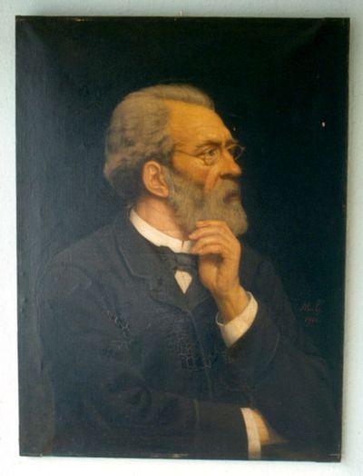 Michel Geraets (1829-1908), Emile Geraets, voorzitter van 'Les Mélophiles', 1901, olie op doek.