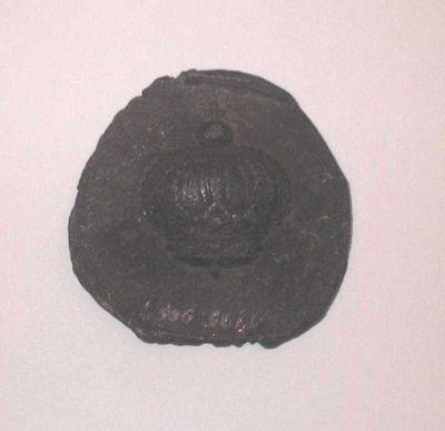 Philippen-Vinckenbosch, mal voor zilverblik met afbeelding kroon, s.d., lood.