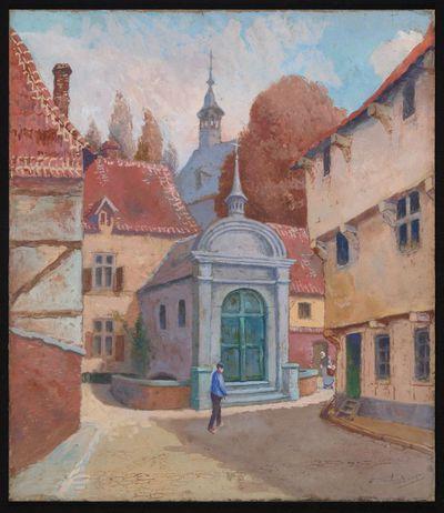Paul Marie Bamps (1862-1932), Kapel Paardsdemer, ca. 1890, gouache.