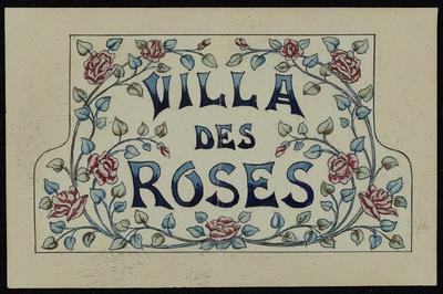 Manufacture de Céramiques Décoratives de Hasselt (1895-1954), ontwerptekening voor een tegelpaneel met tekst