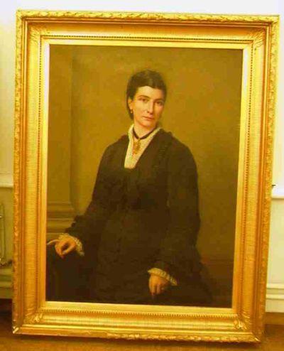 Godfried Egide Guffens (1823-1901), portret van Leonie Malherbe (1842-1991), echtgenote van Louis Willems (1822-1902), 1878, olie op doek.