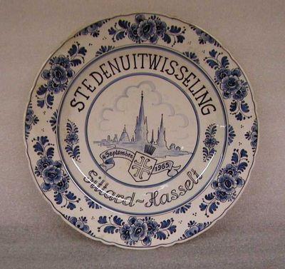 Anoniem, Sierbord Stedenuitwisseling Sittard-Hasselt 4 september 1965, 1965, aardewerk.