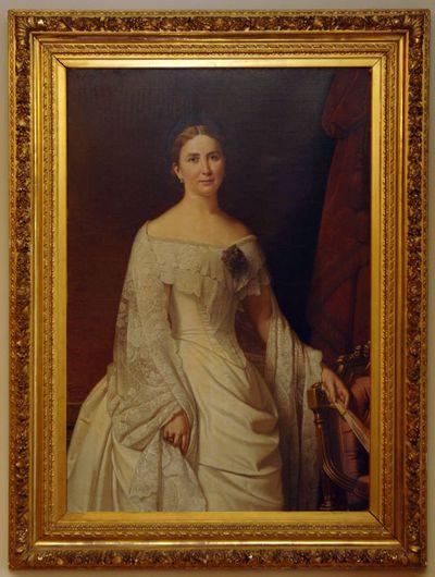 Godfried Egide Guffens (1823-1901), Anne-Marie Colette de Corswarem-de Decker (1854-1916), 1891, olie op doek.