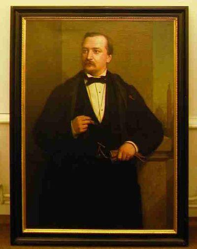 Godfried Egide Guffens (1823-1901), portret van Jules Nagels (1829-1890), burgemeester van Hasselt 1875-1878, 1875, olie op doek.