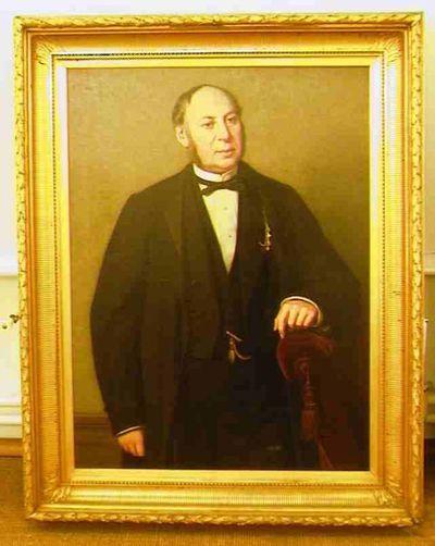 Godfried Egide Guffens (1823-1901), portret van Dokter Louis Willems (1822-1902), 1878, olie op doek.