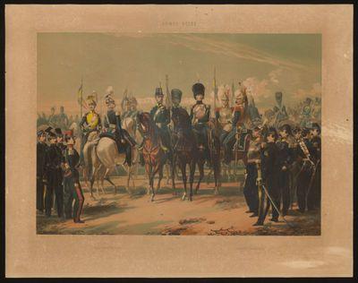 H. Hendrickx lithograaf, Simonau & Toovey drukker, Belgisch leger 1830 - Cavalerie, s.d., lithografie.