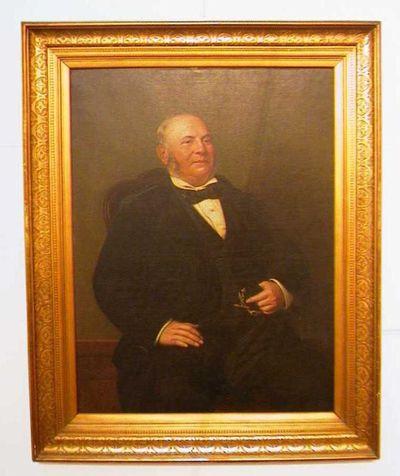 Godfried Egide Guffens (1823-1901), Portret van jeneverstoker Michel Nys-Ponet (1814-1894), 1879, olie op doek.