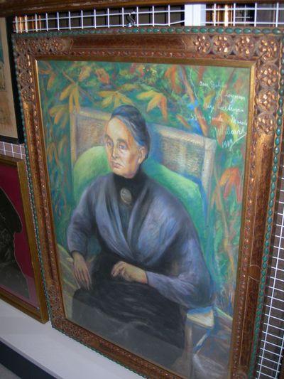 Gaston Joseph Wallaert (1889-1954), Portret van mevrouw Leynen (1842-1920), 1919, pastelkrijt.