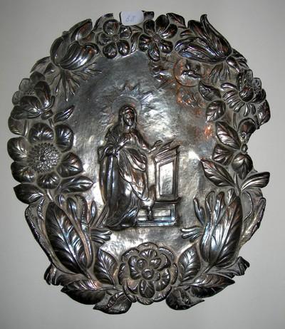 Anoniem, flambeeuwschild afkomstig uit de Virga-Jessebasiliek, geen merken, s.d., zilver.