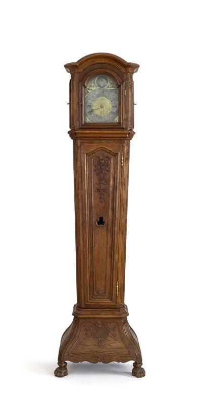 Michel Geraets (1791-1859), staande klok, 1ste helft 19de eeuw, eikenhout.