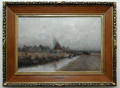 Djef Anten (1853-1913), IJzel en mist, ca. 1890, olie op doek.
