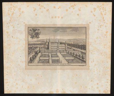 Remacle Le Loup (1694-1746), Vue du Chateau de Beto proche de Tongre, ca. 1740, papier, kopergravure.