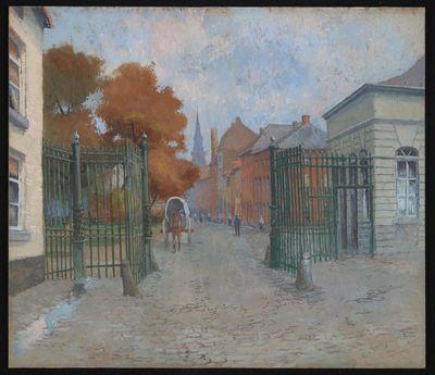 Paul Marie Bamps (1862-1932), De Nieuwpoort, ca. 1890, gouache.