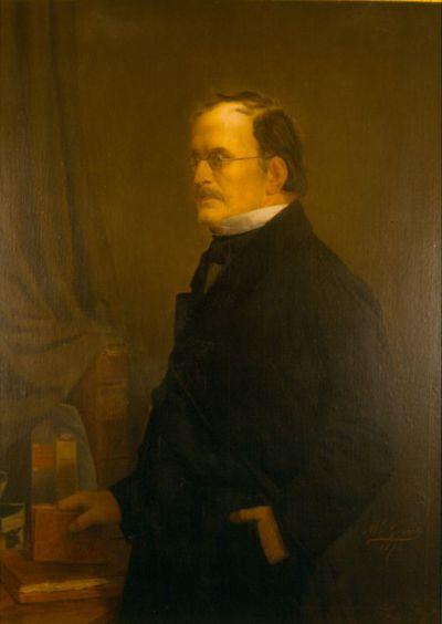 Michel Geraets (1829-1908), Advocaat Antoine-Louis Bellefroid (1801-1867), 1874, olie op doek.
