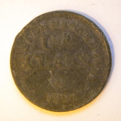 Anoniem, munt 'Foret de Herkenrode', gebruikt als betaalmiddel in Herkenrode, 1837, lood.