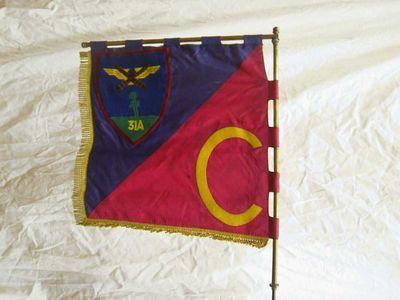 Anoniem, vaandel 31 A - C, s.d., dubbele zijde, vilt, velours.