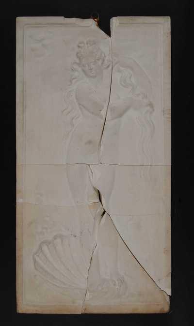 Manufacture de Céramiques Décoratives de Hasselt (1895-1954), model voor tegelpaneel met renaissance voorstelling van Venus in schelp, s.d., gips.