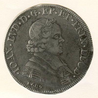 Ducaton, geslagen in Luik, 1689 (prins-bisschop Jan-Lodewijk Van Elderen), geslagen zilver.