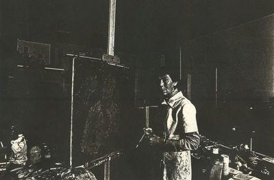 Carlo Valkenborgh (°1957), portret Paule Nolens (1924-2008), 1982, papier.