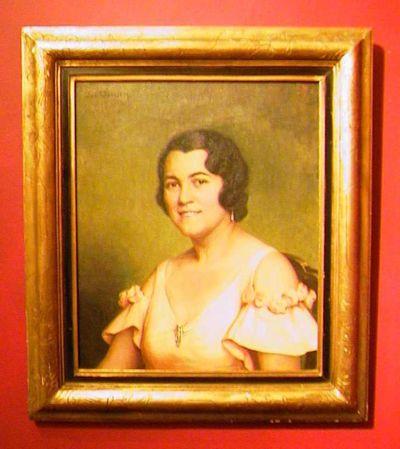 Jos. Damien (1879-1973), portret van een dame, s.d., olie op doek.