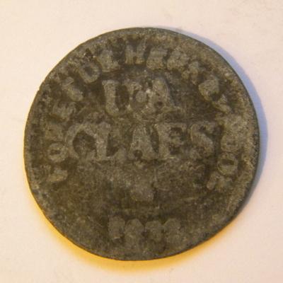 Anoniem, munt 'Foret de Herkenrode', gebruikt als betaalmiddel in Herkenrode, 1882, lood.