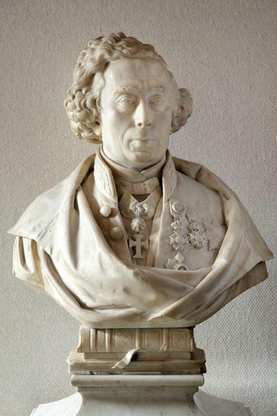 Jules Courroit (1831-1906), Borstbeeld Jean Joseph Thonissen (1816-1891), 1872, marmer.