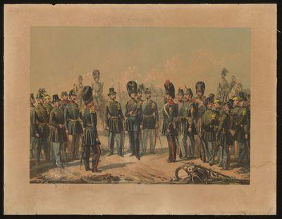 H. Hendrickx lithograaf, Simonau & Toovey drukker, Belgisch Leger 1830 - Infanterie, s.d., lithografie.