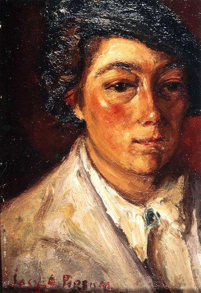 Josy-Anne Pirson (1911-1979), Zelfportret, s.d., olieverf