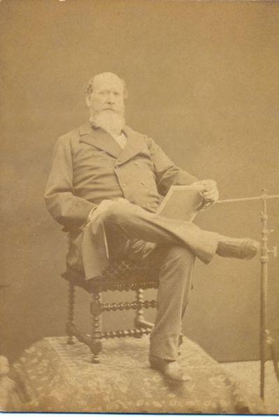 Henri Joseph Blanckart (1833-1894), Portet van Djef Anten (1851-1913) in vooraanzicht, s.d., barietpapier.