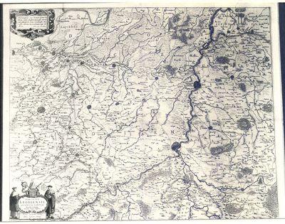 Kaart van bisdom Luik