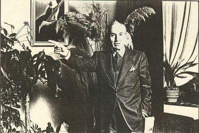 Carlo Valkenborgh (°1957), portret van Trudo Hoewaer, Secretaris en penningmeester Vereniging van Limburgse Schrijvers, 1982, papier.