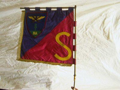 Anoniem, vaandel 31 A - S, s.d., dubbele zijde, vilt, velours.