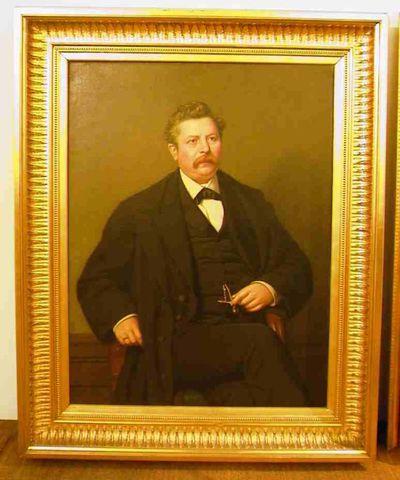 Godfried Egide Guffens (1823-1901), Portret van bankier Jan Hubert Ouwerx (1831-?), s.d., olie op doek.
