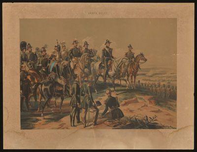 H. Hendrickx lithograaf, Simonau & Toovey drukker, Belgisch Leger 1830 - Generale Staf Leopold I, s.d., lithografie.