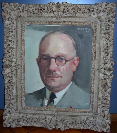 Isodoor Opsomer (1878-1967), studie portret van Gouverneur Jan Grauls, 1942.