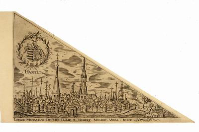 Niklaas II Sigers (1603-1655) graveur, Niklaas III Sigers (1636-1675) graveur, Onze-Lieve-Vrouw Virga Jesse bedevaartvaantje, kopergravure.