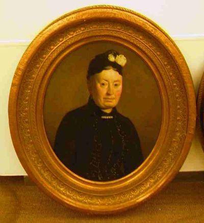 Michel Geraets (1829-1908), Portret van Maria Theresia Theodora Duys, s.d., olie op doek.