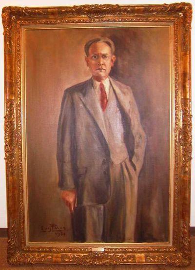 Eugène Polus, portret van Hubert Leynen (1909-1997) senator van 1949-1977, 1951, olie op doek.