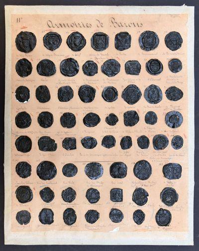 Anoniem, 61 zegelafdrukken met wapenschilden van baronnen