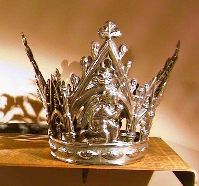 Jacques Vinckenbosch (1798-1876) edelsmid, Henri Corneille Gilissen (1821-1889) edelsmid, Kroon voor Virga Jesse en kroon voor Jezuskind, 1861, deels verguld zilver.