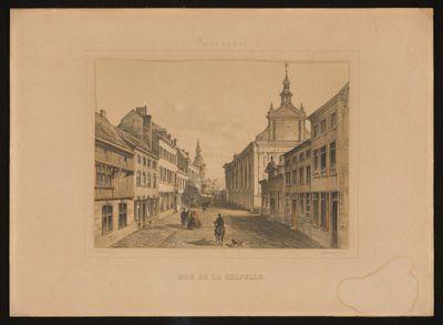 Charles Joseph Hoolans (1814-na 1866) lithograaf, Simonau & Toovey drukker, Kapelstraat, 1860, lithografie.