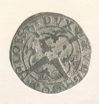Anoniem, stuiver (patard), 16e eeuw, geslagen in Hasselt of Luik, 1561 (prins-bisschop Robert Van Bergen), geslagen zilver.