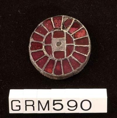 Incomplete zilveren amaldinfibula