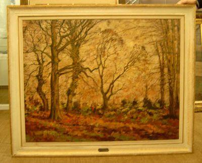 Paul Hermans (1898-1972), Herfst - Kasteel Henegauw, 1946, olie op doek.