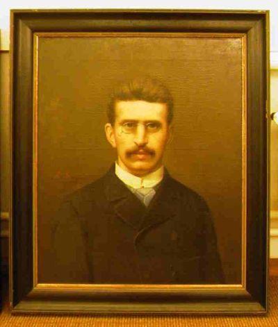 Michel Geraets (1829-1908), Zelfportret, ca. 1860-1875, olie op doek.