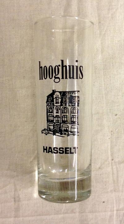 Anoniem, drinkglas Café Het Hooghuis Hasselt, s.d., glas.